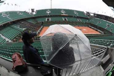 Roland Garros sous la pluie